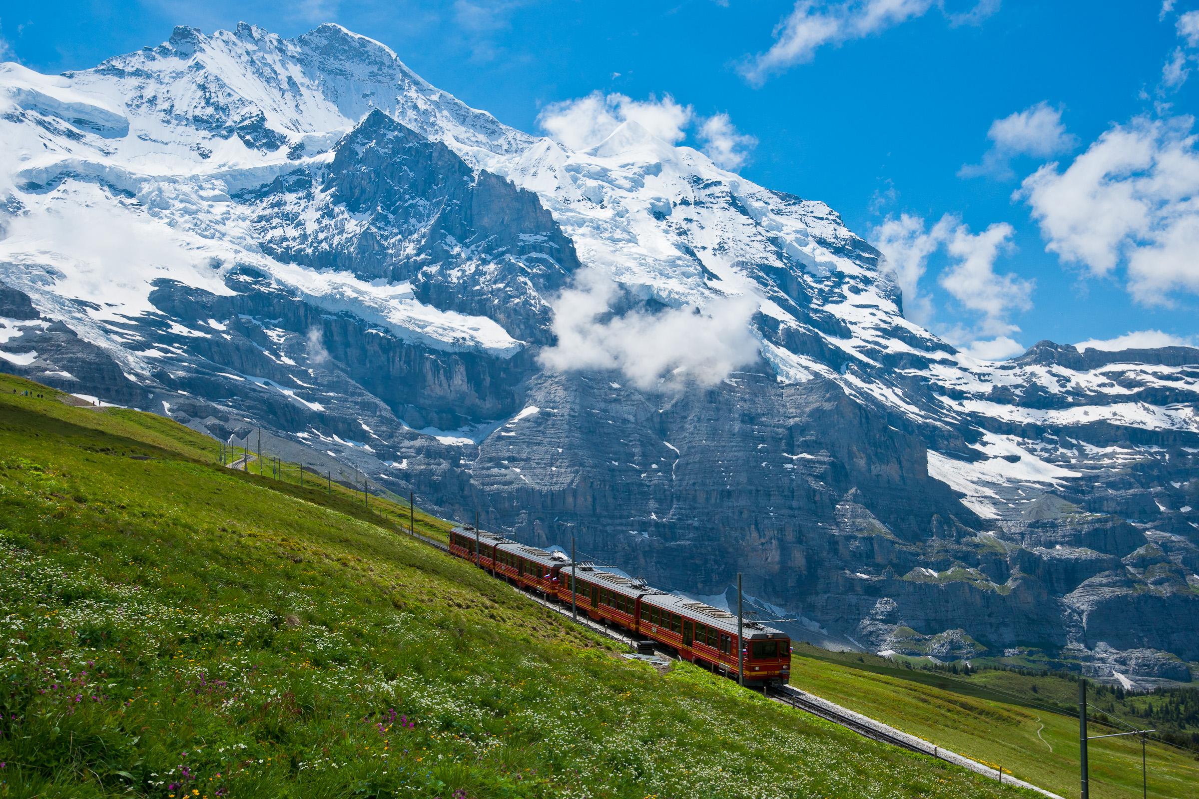 To the Jungfrau Jungfraujoch Switzerland [2400x1600] wallpapers 2400x1600