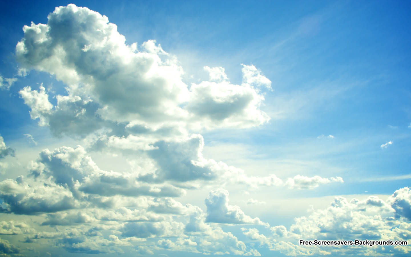 Clouds Over Prairie Sky   Screensavers and Backgrounds 1440x900