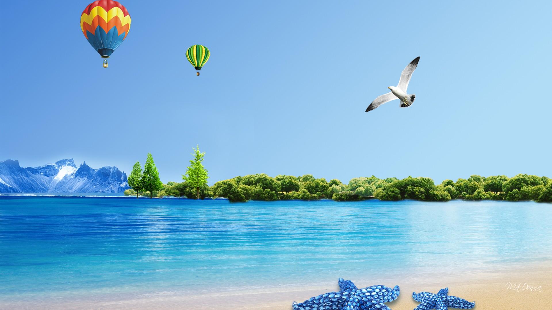Summer Fun Balloon Nature 690263 1920x1080px W 2592   HD 1920x1080