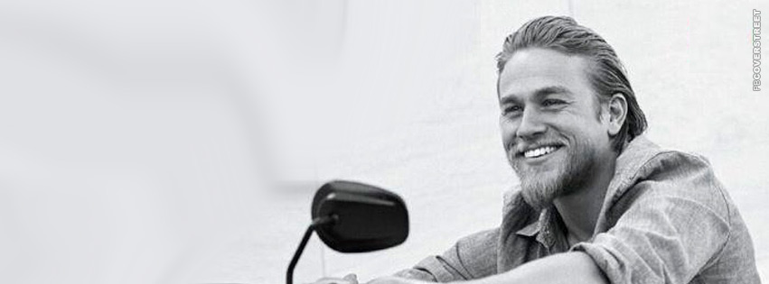 Charlie Hunnam Smiling Photograph Cover 2 Wallpaper 851x315