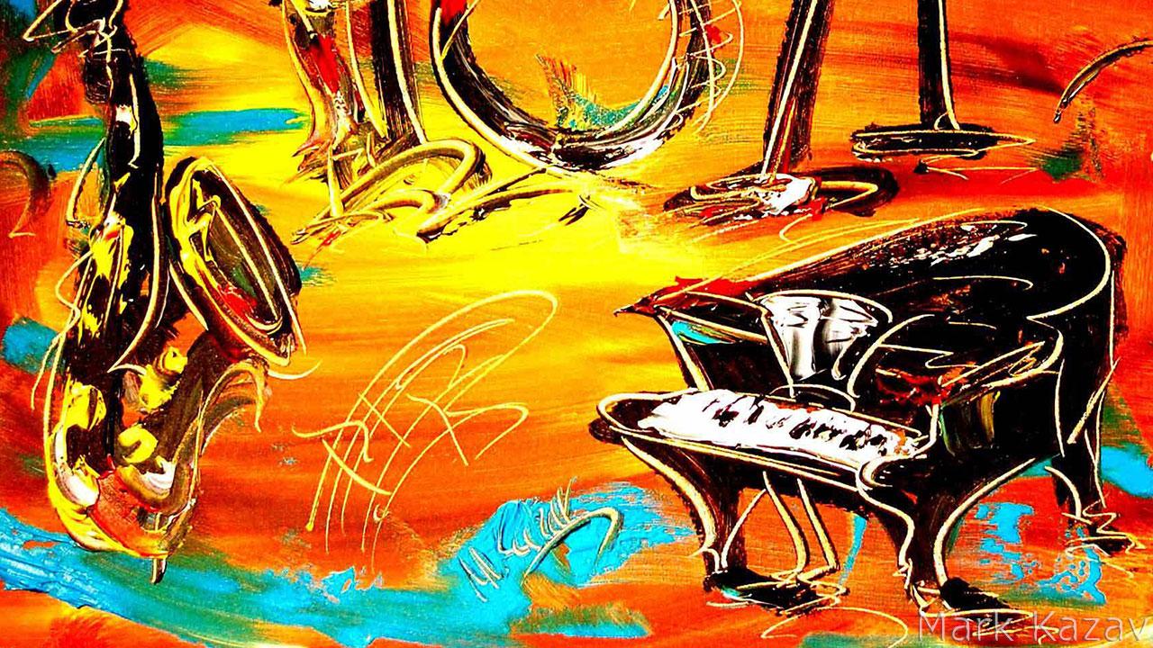 Abstract Jazz Band Art