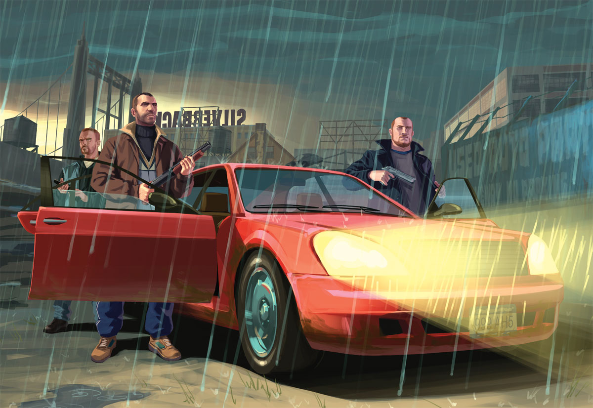 GRAND THEFT AUTO IV   Artwork Official Art Illustrations Box Art 1200x826