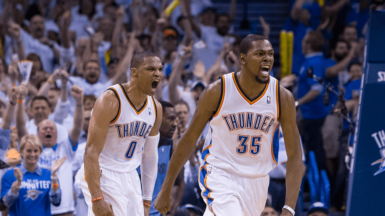 Kevin Durant And Russell Westbrook 2017 Wallpapers 1280x720