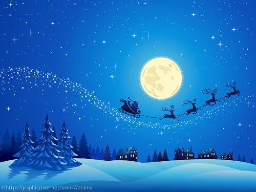 1280x1024 Santa Into the Winter Christmas Night 2 wallpaper 500x375