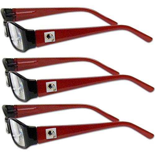 NFL Washington Redskins Adult Reading Glasses 3 Pack Red Reading 500x500
