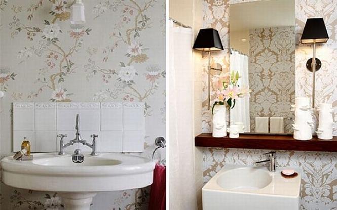 Bathroom wallpaper murals designs ideas picture 665x415