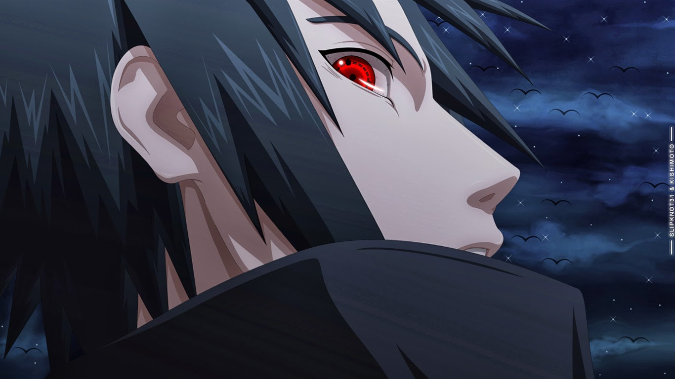 Uchiha Sasuke Sharingan Eyes Anime Wallpaper HD g00 Boy Male Deviant 1366x768