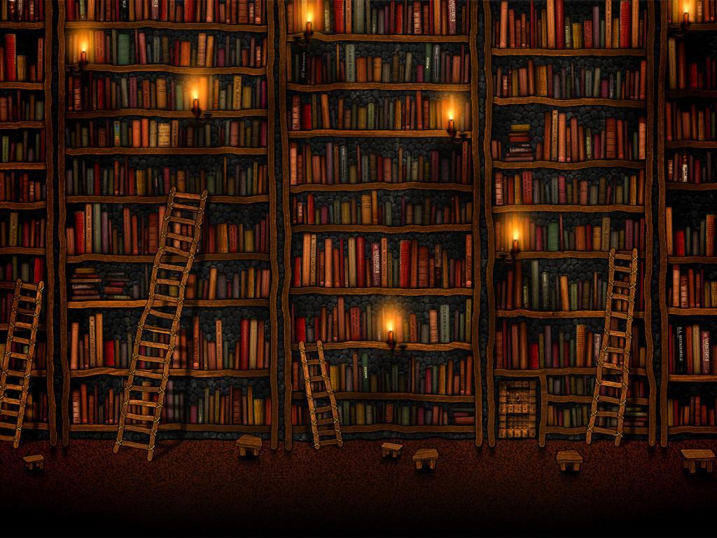 Google Library a wallpaper by Vlad Gerasimov Vladstudio 1024x768