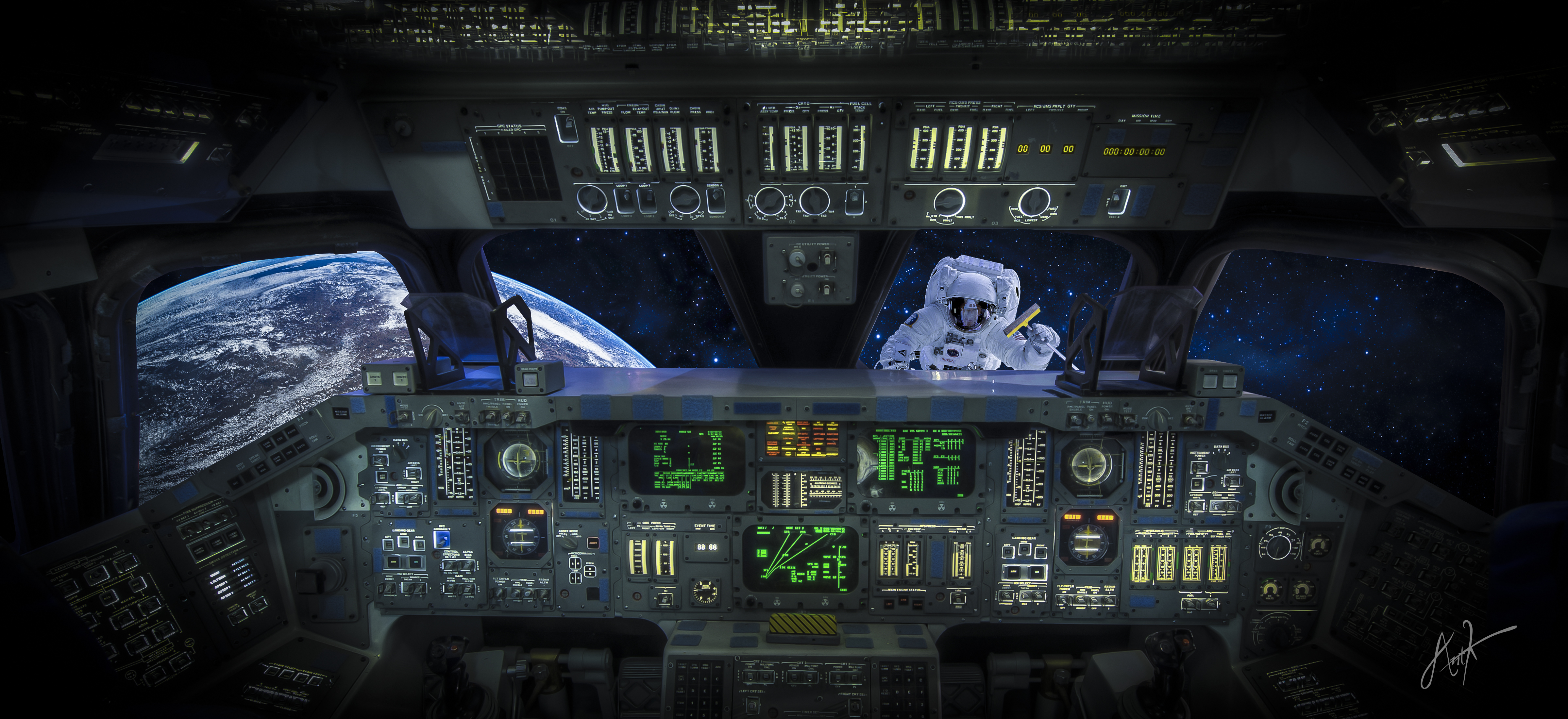 Category Other Tags cockpit shuttle space