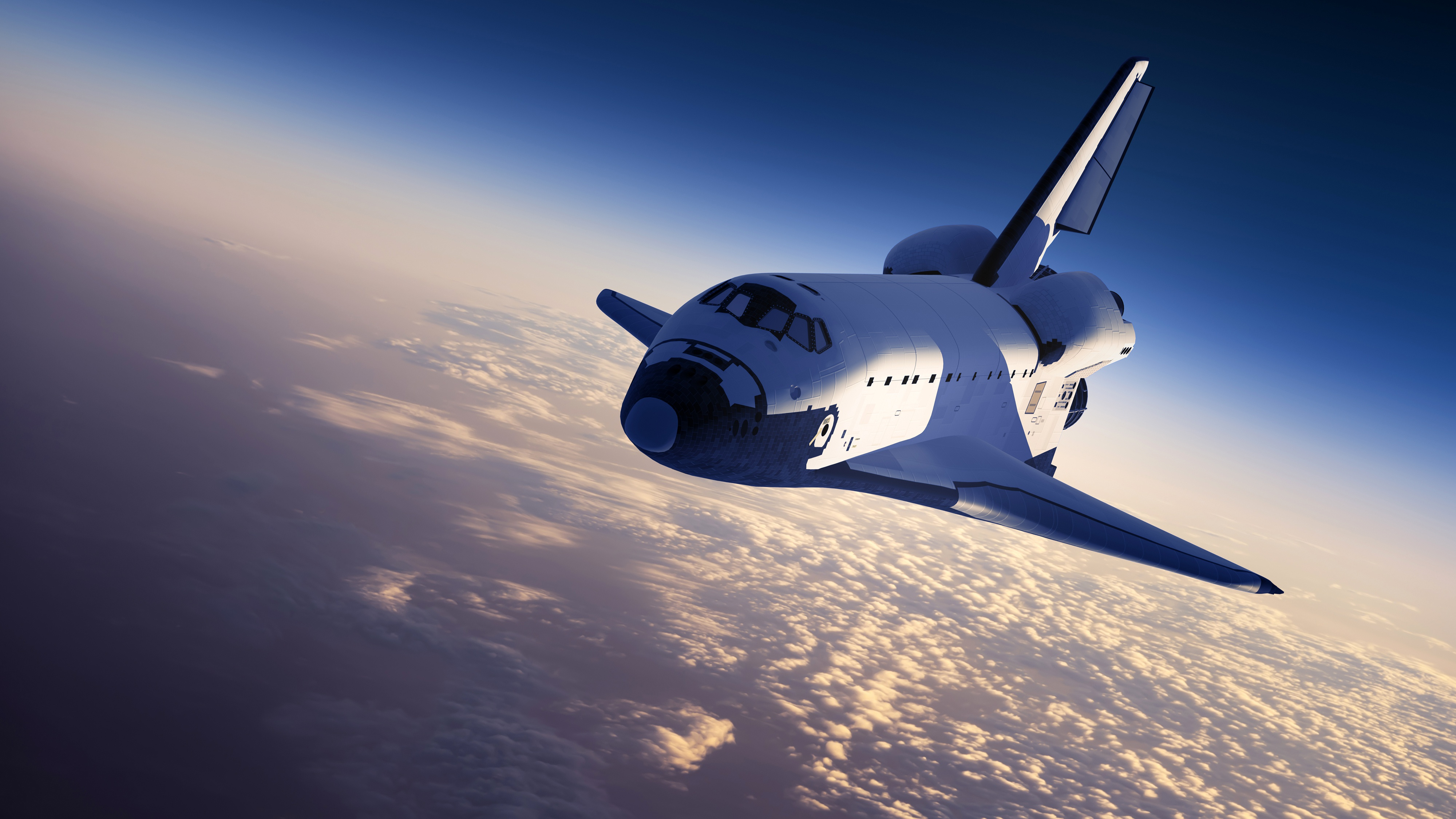 Wallpaper of Cloud Space Space Shuttle background HD image 4000x2250