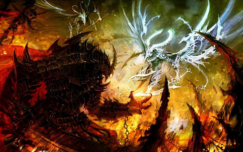 Epic fantasy wallpaper wallpapersafari - Anime war wallpaper ...