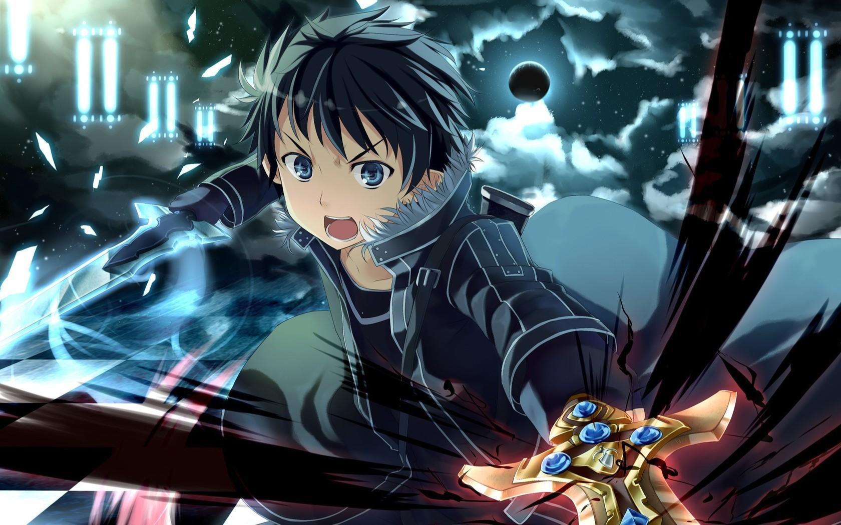 Download Kirito   Sword Art Online wallpaper 1680x1050