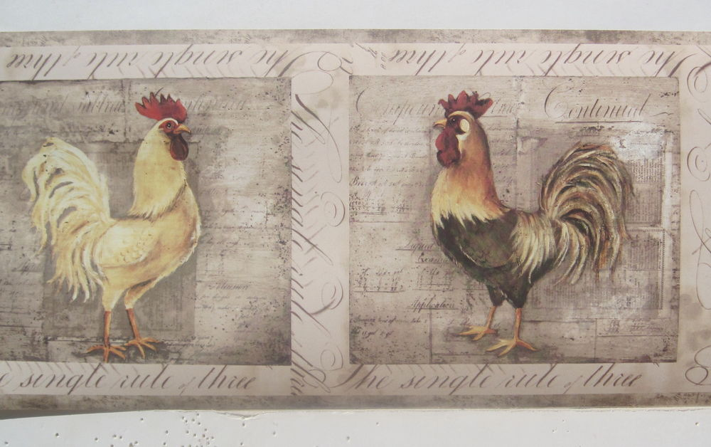 Roosters Rooster Chickens Country Wallpaper Border 6 eBay 1000x628