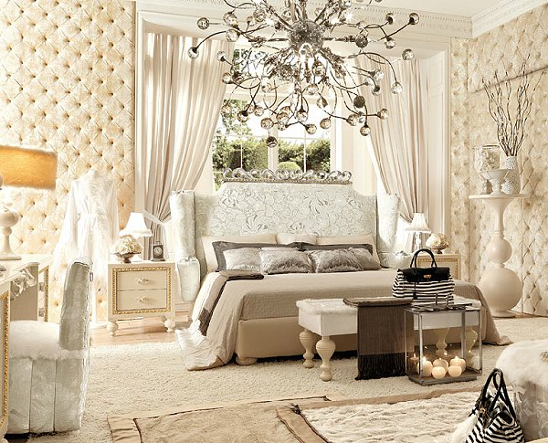 theme decor  decorating Hollywood glam style bedrooms   Hollywood glam 600x485