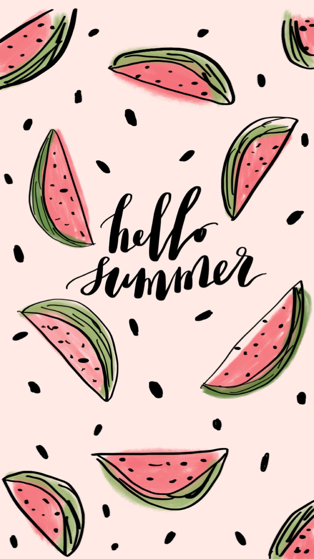 Hello Summer FREE Wallpaper iPhone stuff Watermelon wallpaper 1000x1779