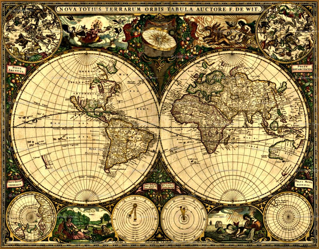 steampunk map wallpaper - photo #28