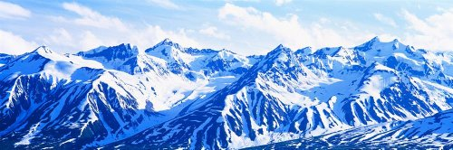 Peel Stick Wall Murals Alesk Mountains British Columbia Canada 500x166
