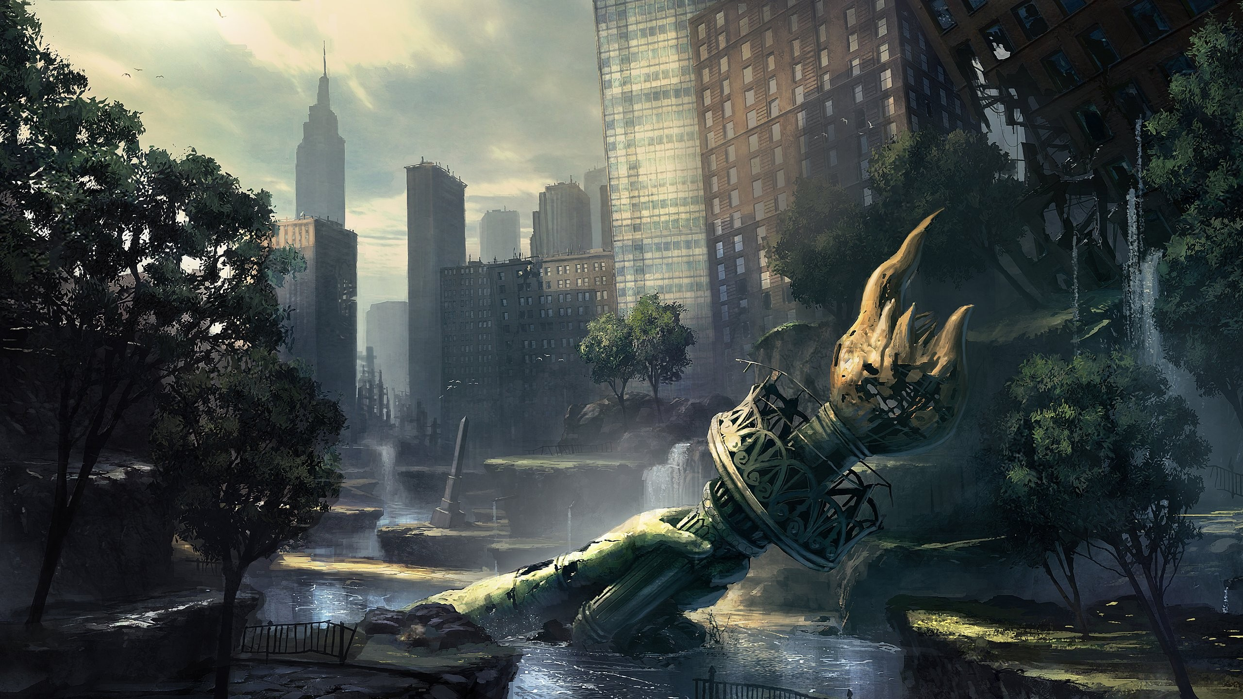 Video Games Wallpaper 2560x1440 Video Games Ruins New York City 2560x1440