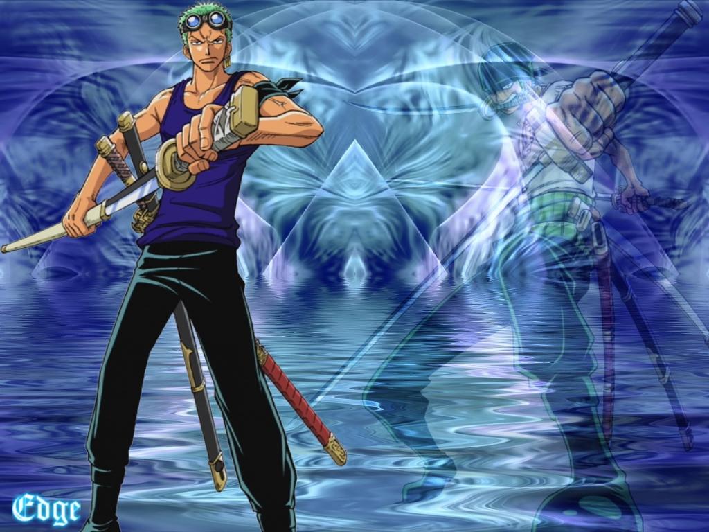 Roronoa Zoro One Piece New World Blue Design Free With 1366x768