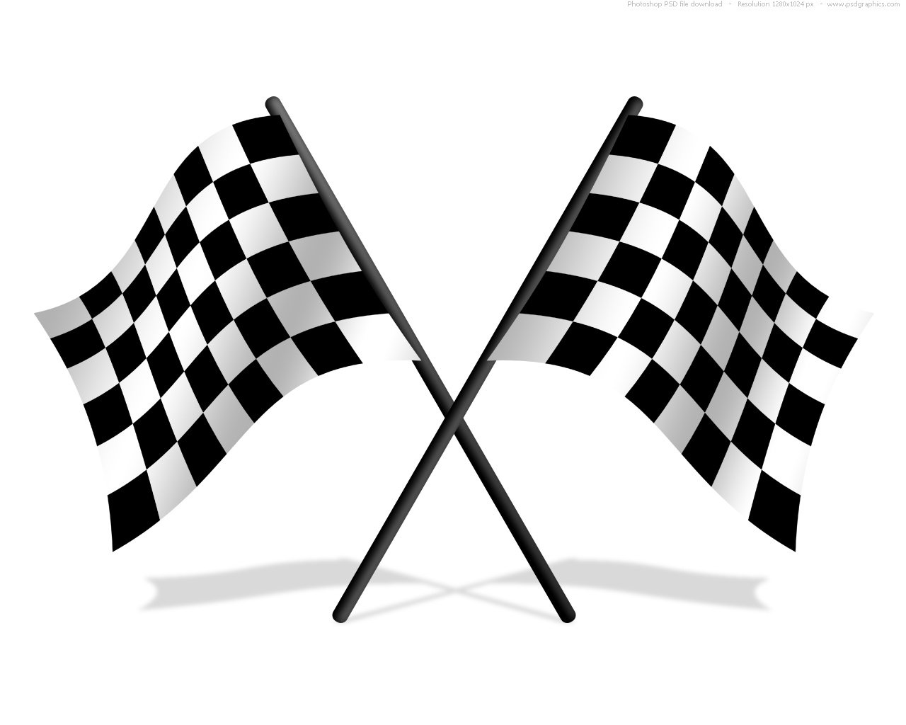Checkered flags PSD icon PSDGraphics 1280x1024
