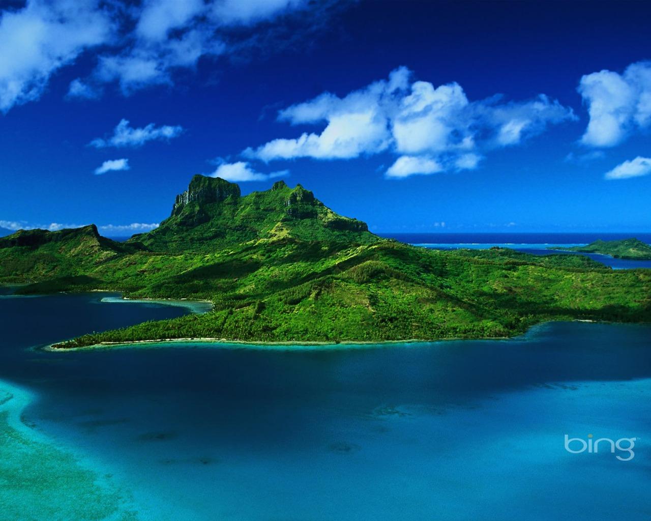 Pacifique Sud le de Bora Bora Wallpaper courant Taille 1280 x 1024 1280x1024