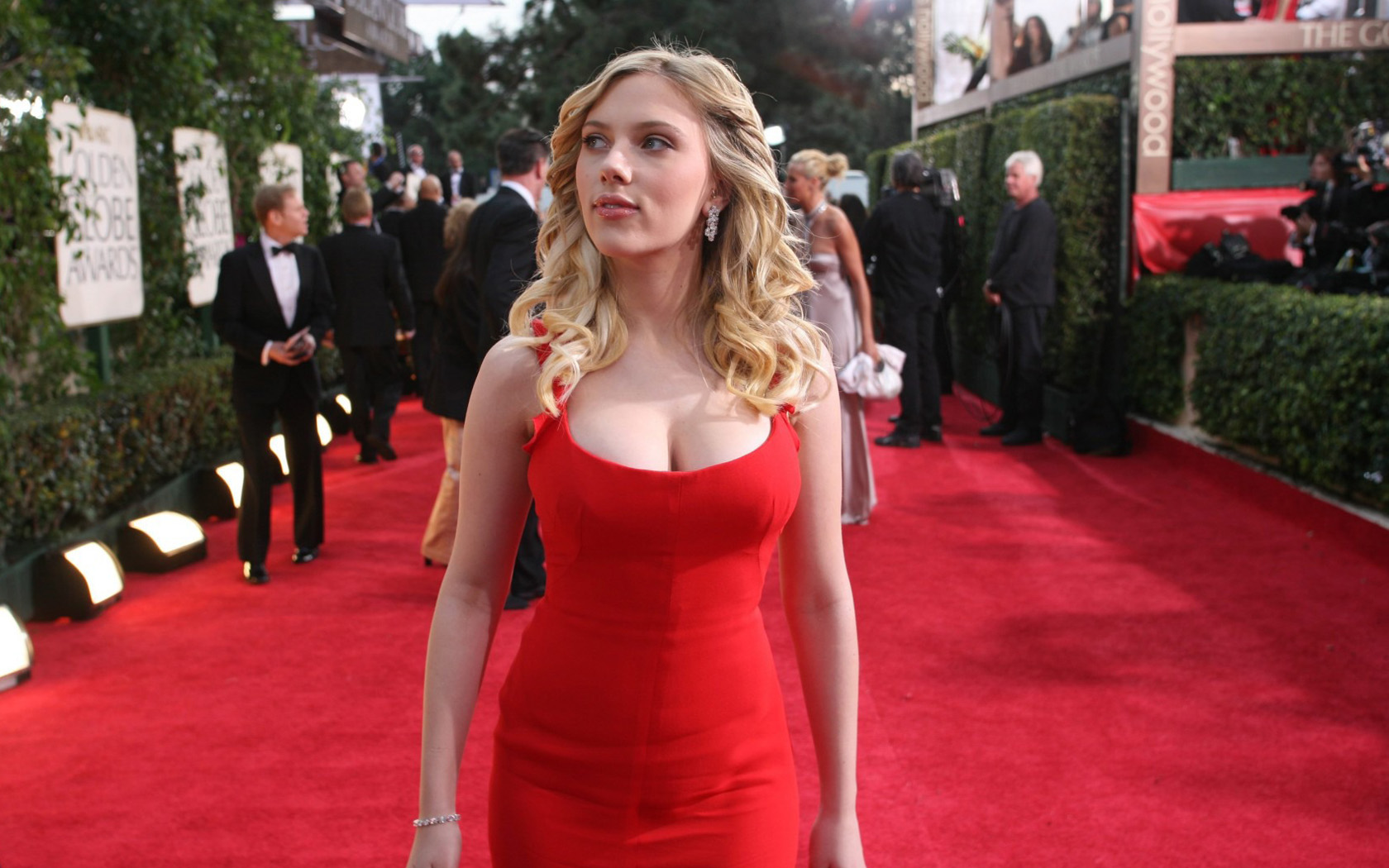 Scarlett Johansson Red Carpet Wallpapers HD Wallpapers 1680x1050
