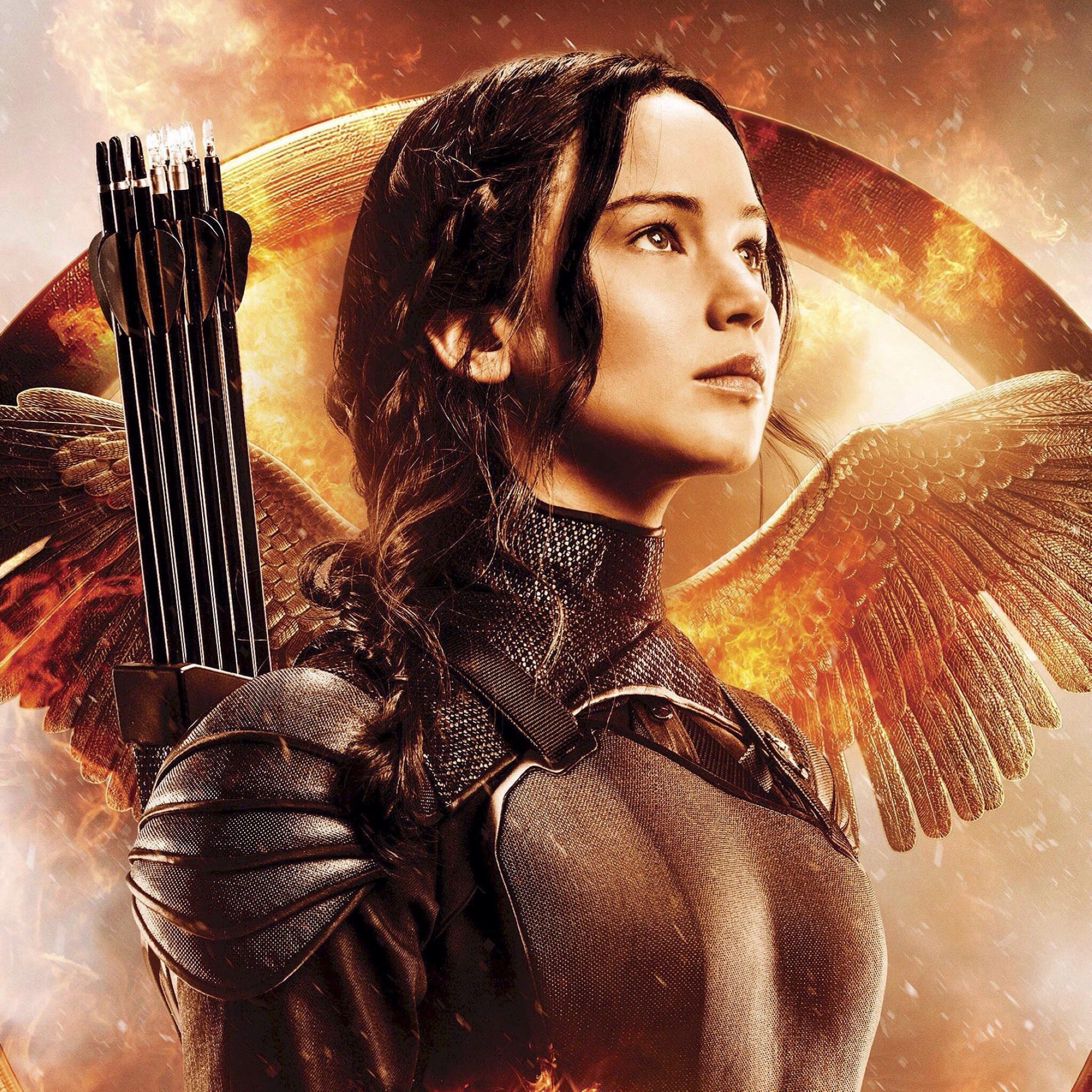 Mockingjay   Katniss Everdeen Wallpaper 39076861 2048x2048