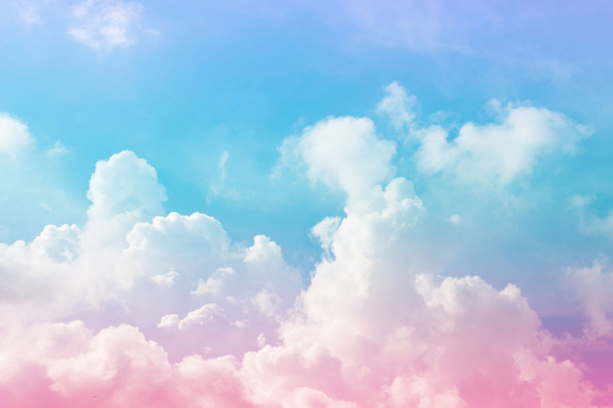 Cotton Candy Clouds Mural Wallpaper Murals Your Way 1200x800