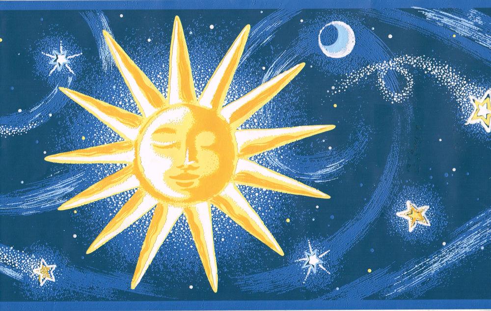 Открытки, картинки с изображением солнца звезд луны