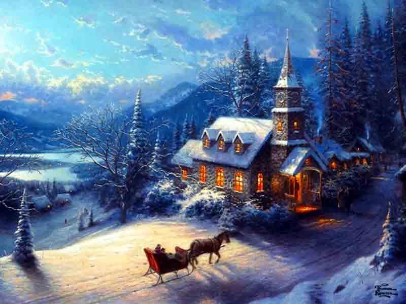 Thomas Kincade Christmas Tree