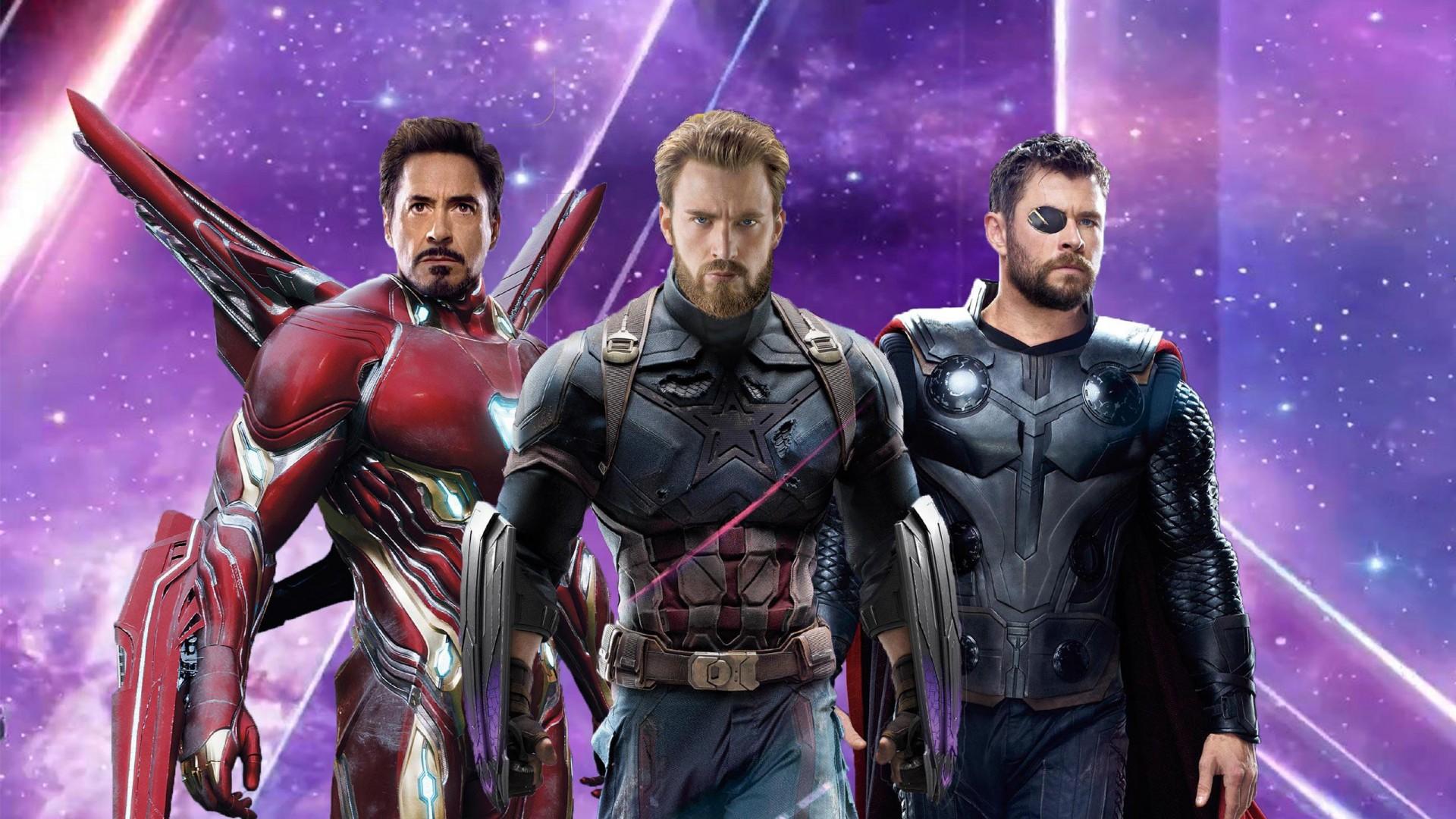 Iron Man Captain America Thor in Avengers Infinity War Wallpaper 1920x1080