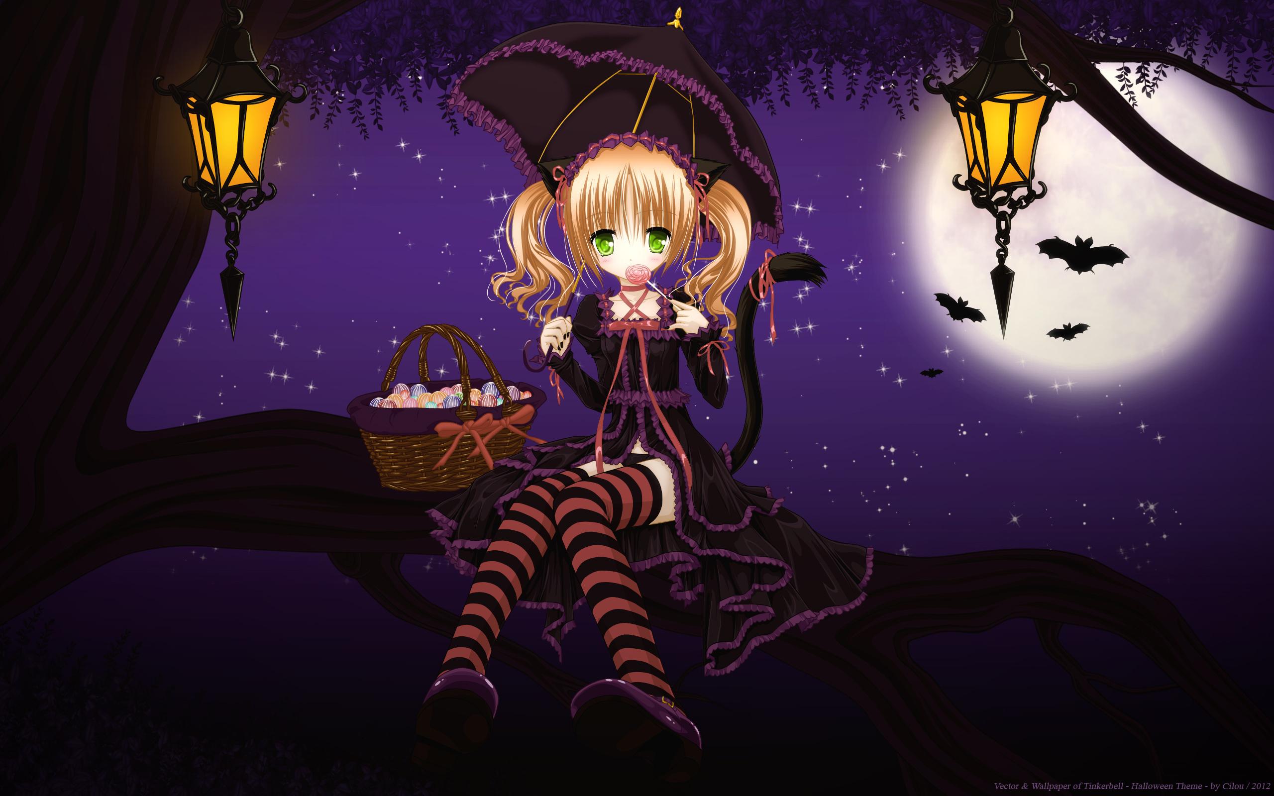 Cute halloween anime girl wallpaper   ForWallpapercom 2560x1600