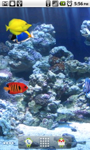 Fish Tank Aquarium Live Wallpaper for Android Android Blast 300x500
