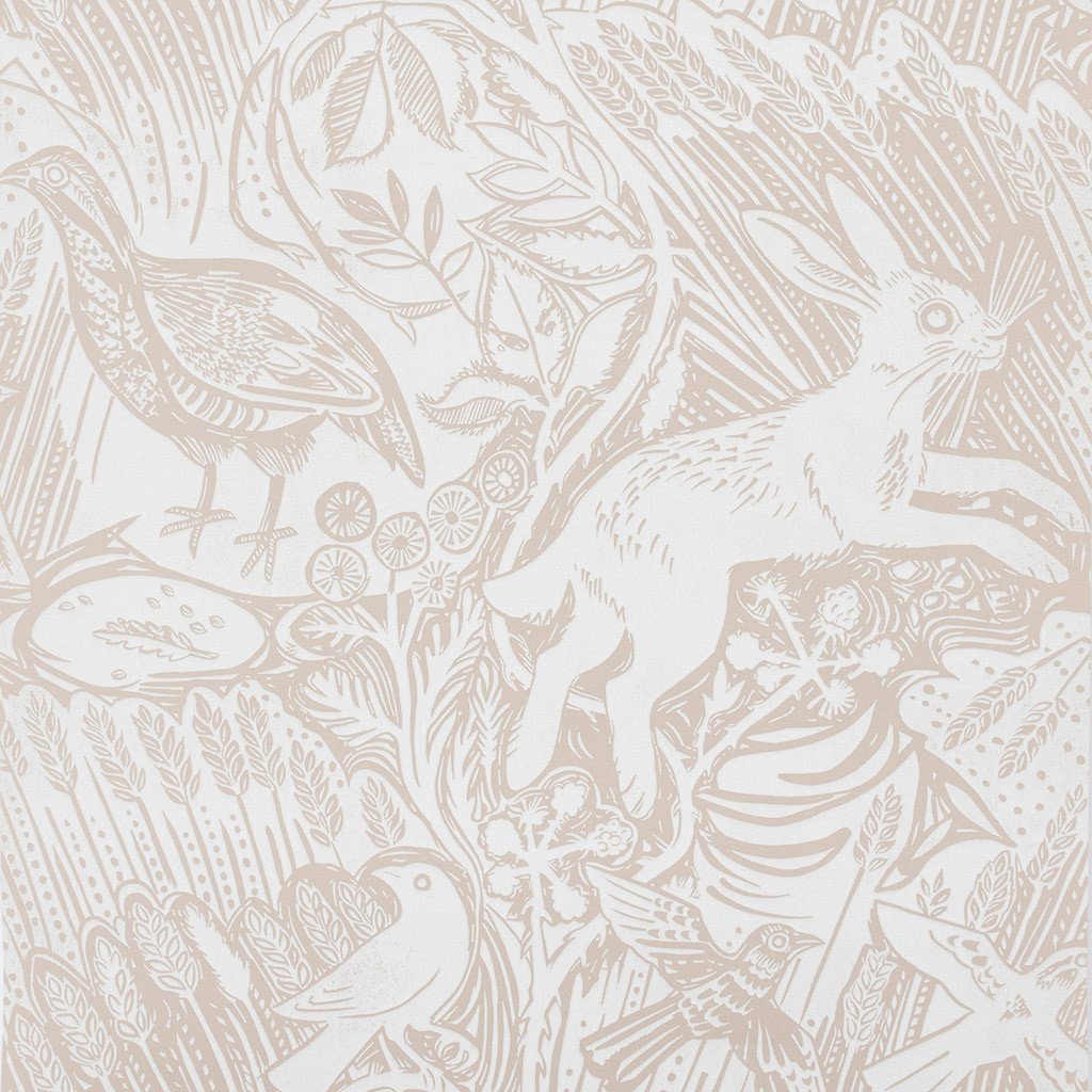 Harvest Hare wallpaper by Mark Hearld   Chalk White St Judes 1024x1024