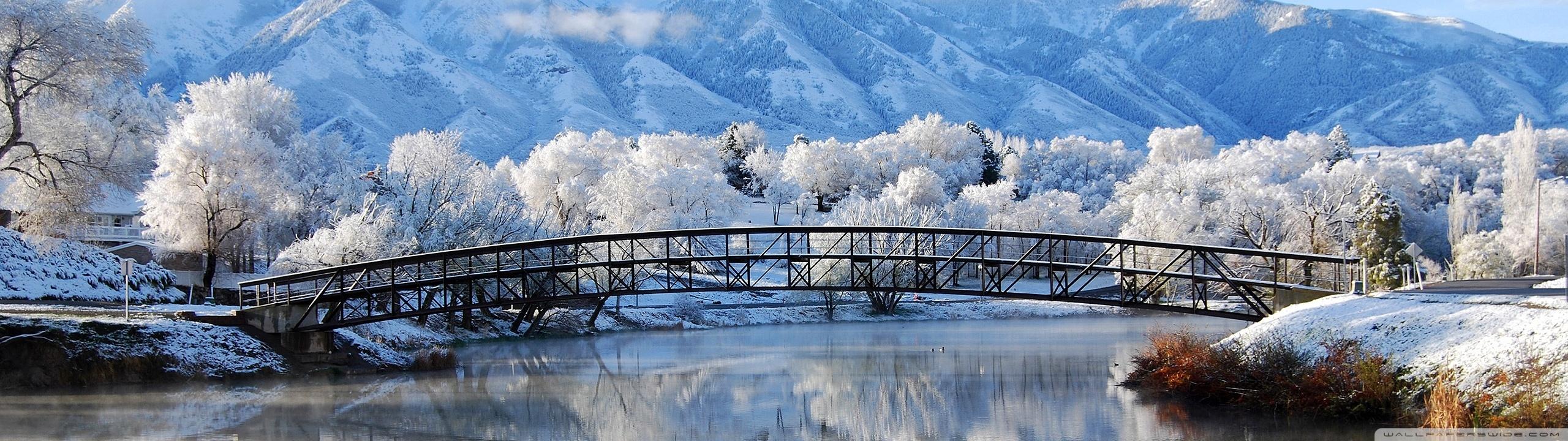 Beautiful Winter Scene 4K HD Desktop Wallpaper for 4K Ultra HD 2560x720