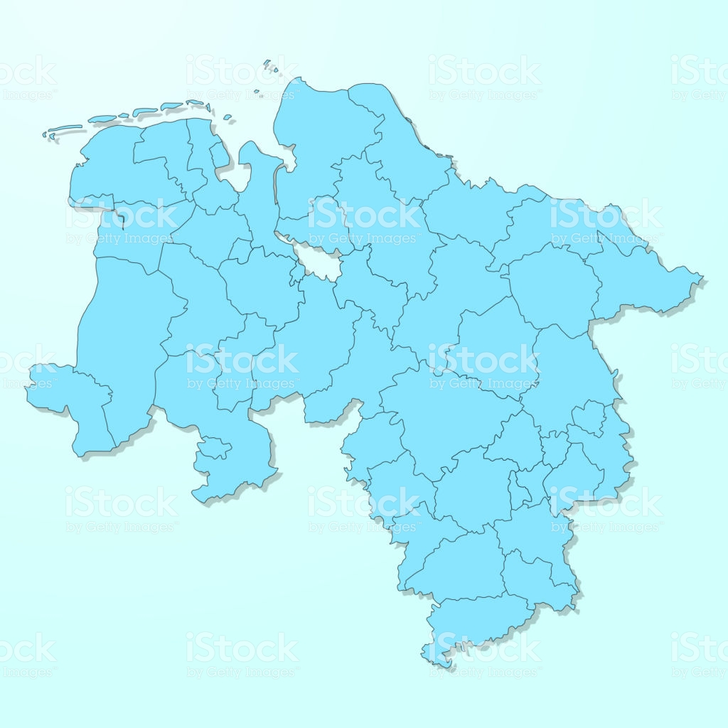 Lower Saxony Blue Map On Degraded Background Vector Stock 1024x1024
