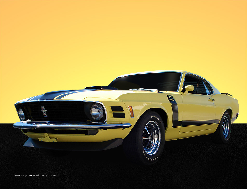 yellow cars muscle car boss 302 mustang boss wallpaper Car Pictures 1024x784