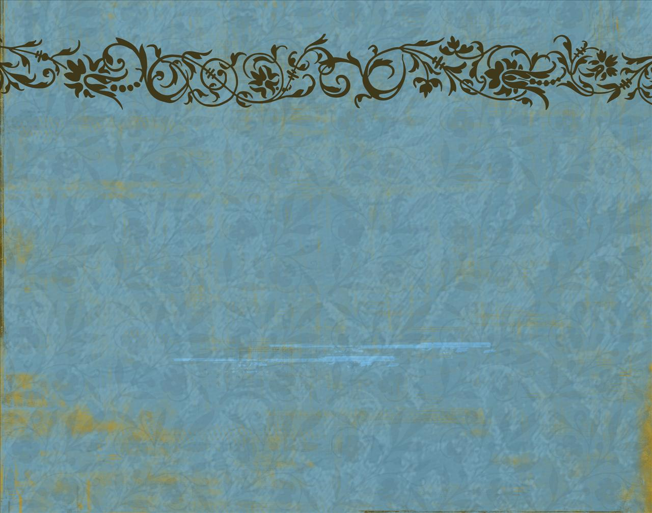 Blue floral vintage decoration PowerPoint background Available in 1280x1007