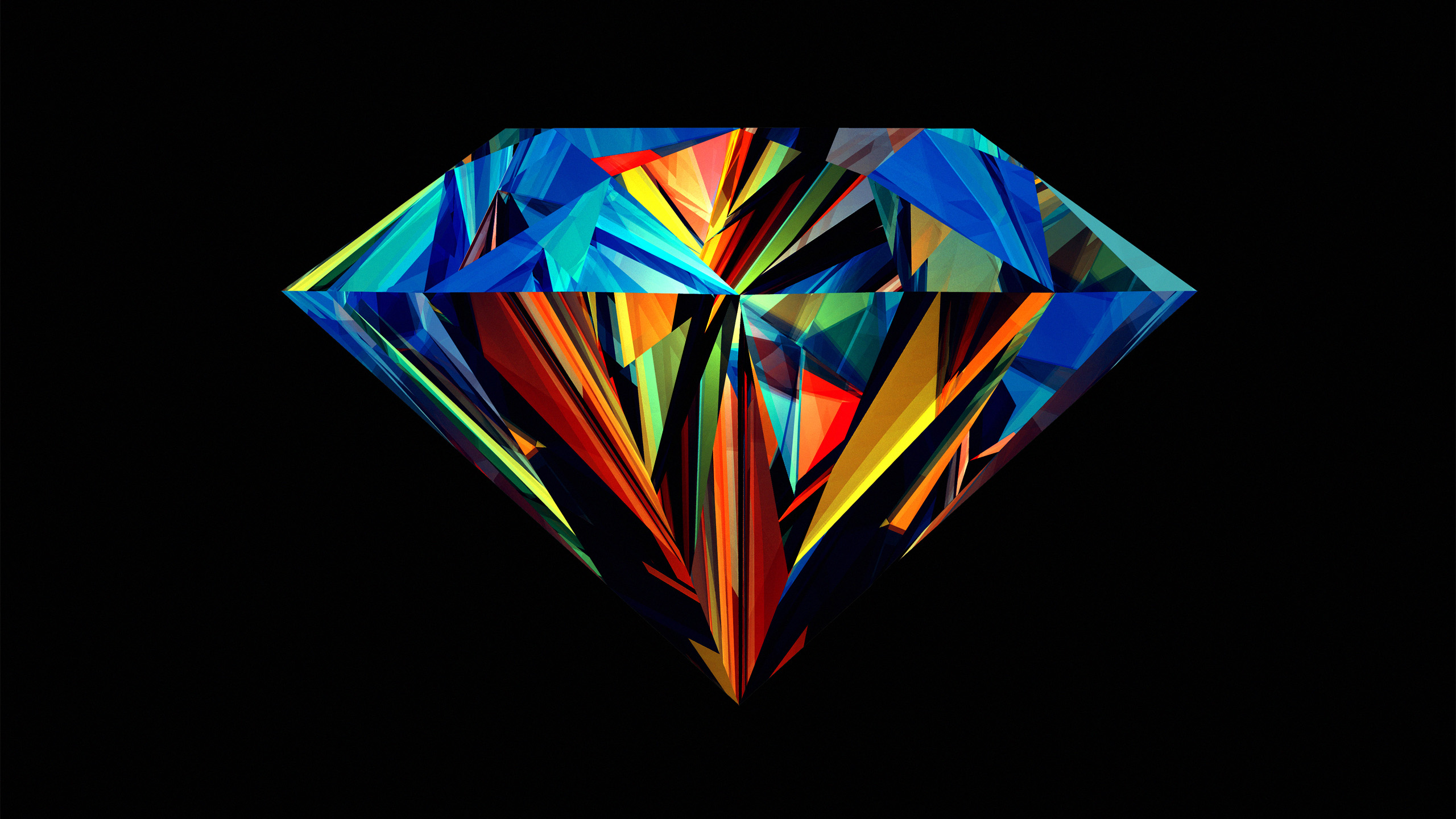 wallpapers diamonds design by Justin Maller Facets series 2560x1440