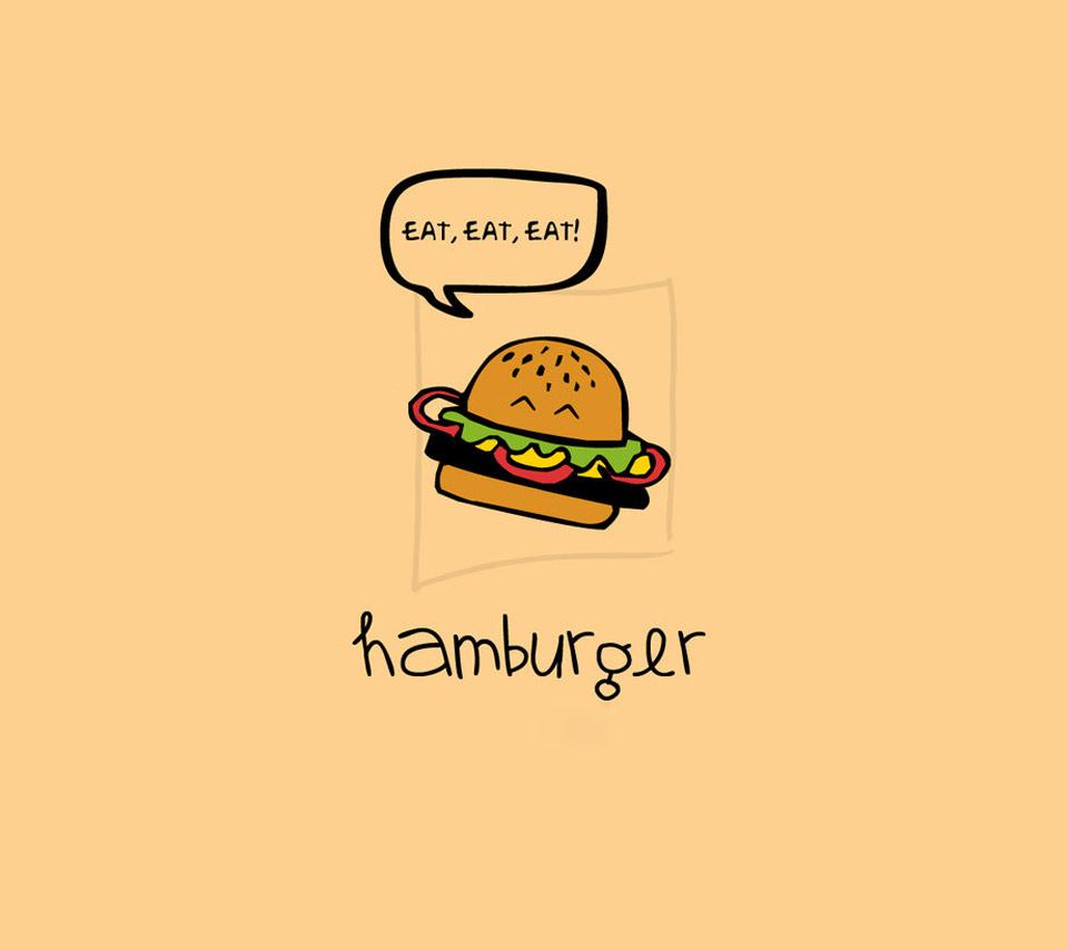 cartoon hamburger wallpaper - photo #31