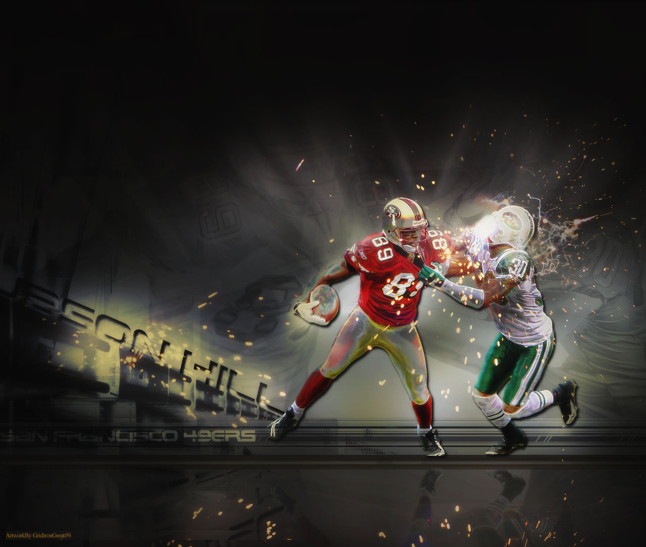Hill Jason wallpaper San Francisco 49ers wallpaper 1280x1024 1280x1084