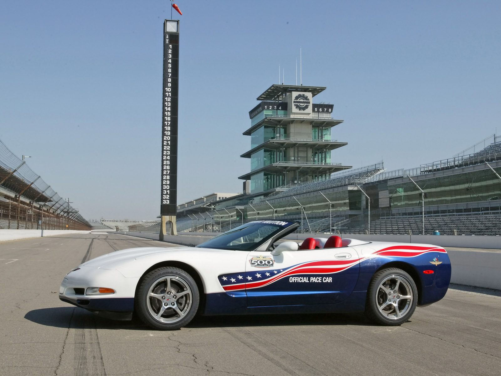 2004 Chevrolet Corvette Convertible Indianapolis 500 Pace Car 1600x1200