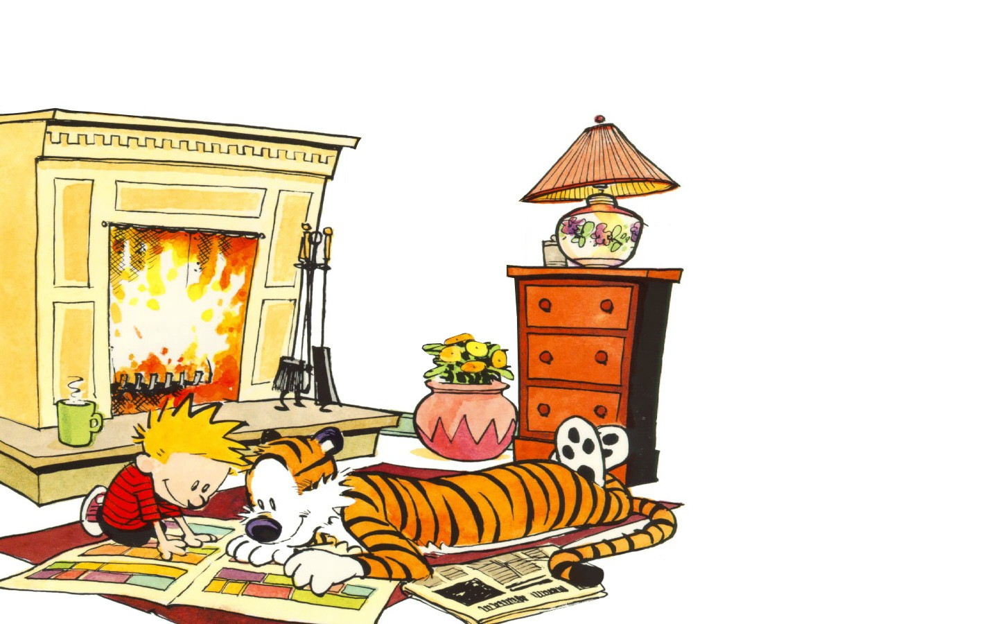 [47+] Calvin and Hobbes Wallpaper Collection on ...