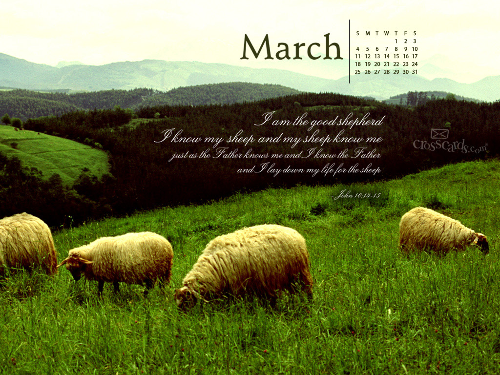 Good Shepherd Desktop Calendar  Monthly Calendars Wallpaper 1024x768