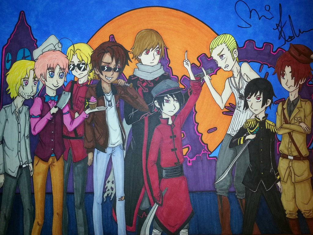 2P Hetalia in 2P London by green daysinger 1024x768