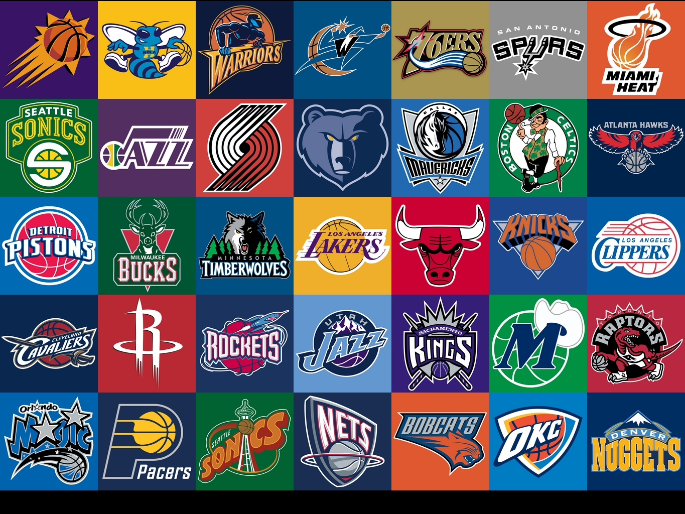 Nba logos wallpaper wallpapersafari - Nba all teams wallpaper ...