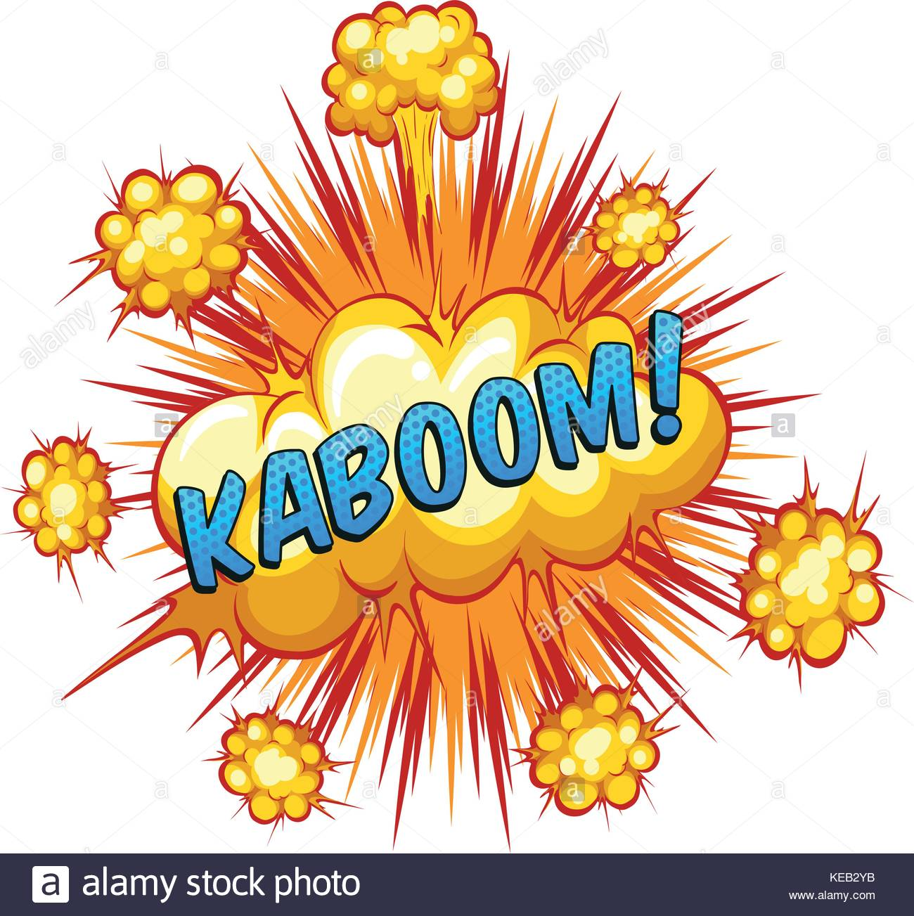 Word kaboom with explosion background Stock Vector Art 1300x1303