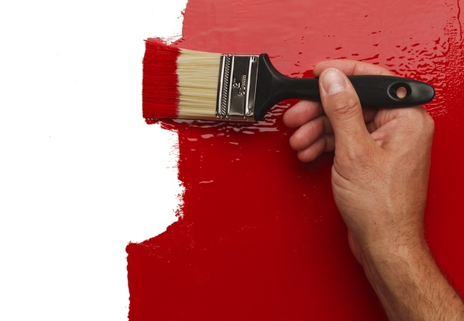How To Paint Over Wallpaper 650x450