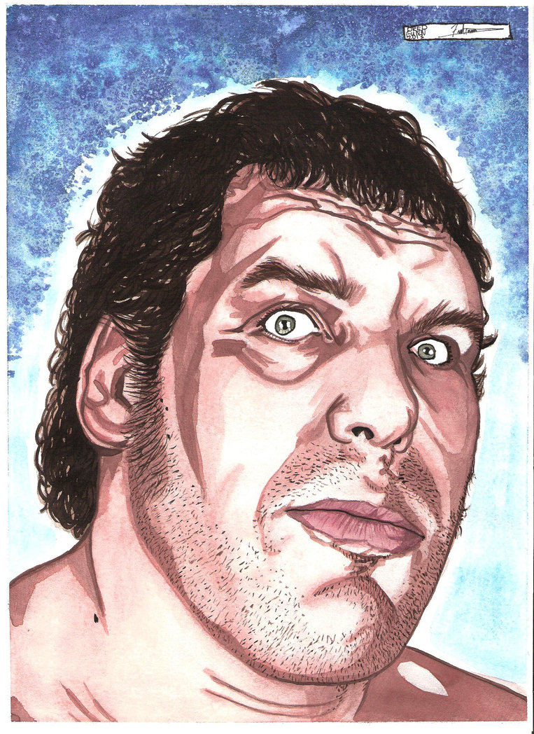 Andre the Giant by DredFunn 763x1048