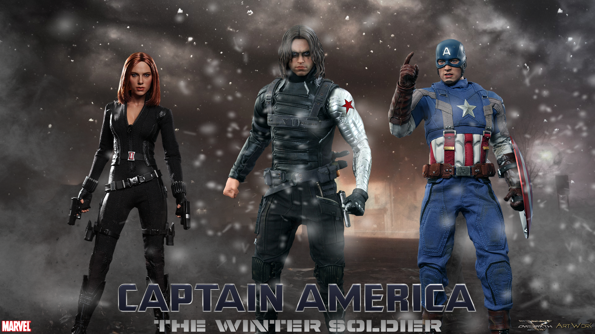 America   The Winter Soldier   Hot Toys Full HD Wallpaper DC Designs 1920x1080